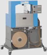 US-2100 Banding Machine for Wide Bands can use banding tape of either 75mm or 100mm wide