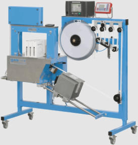 banding machine with inline thermal printer for product information